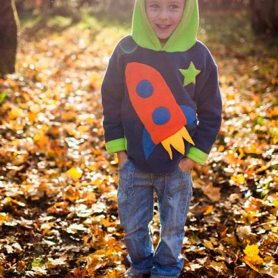 Rocketship and Stars Hoodie