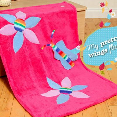 Butterfly and Flowers Snuggle Wrap
